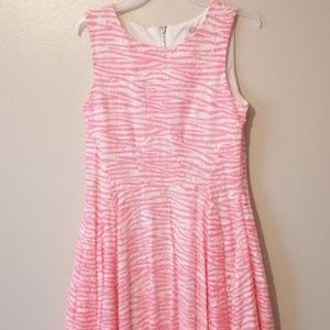 GB Girls Size 12 Pink White Dress